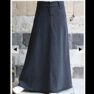 Maxi 100% cotton twill skirt by Shukr